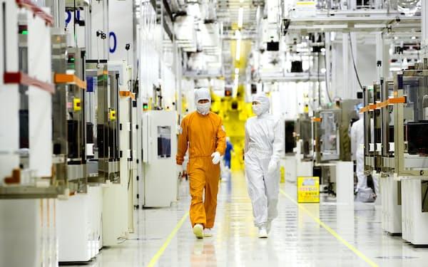 サムスン電子などが大型投資に踏み切ったことで、半導体材料の需要が高まっている