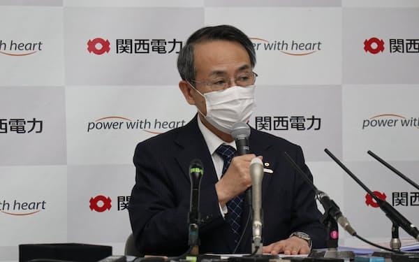 関電の森本社長は「関電トランスフォーメーションを成し遂げる」と語った(26日、大阪市)