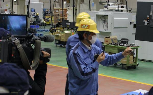 オンラインで工作機械に関する授業をした(中村留精密工業の工場)