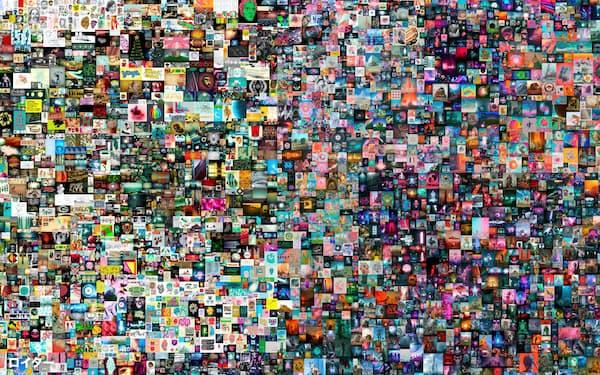 アート作家ビープル氏の作品「EVERYDAYS: THE FIRST 5000 DAYS」は過去最高額で落札された=ロイター