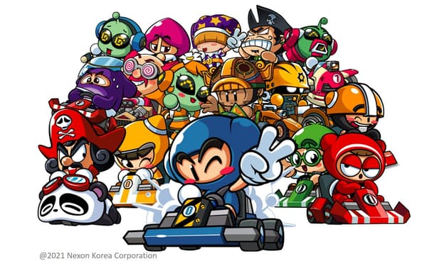ネクソンが韓国などで展開するレーシングゲーム「カートライダー」