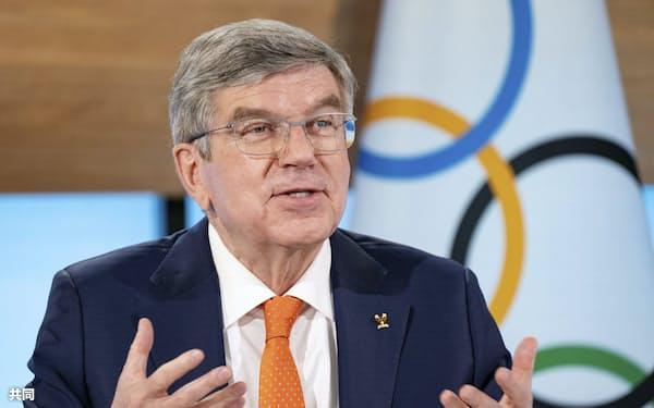 3月のIOC総会で再選を果たしたバッハ会長はスポーツ界で強大な影響力を持つ=IOC提供・共同