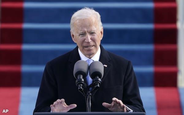 1月20日、第46代米国大統領に就任したバイデン氏 =AP