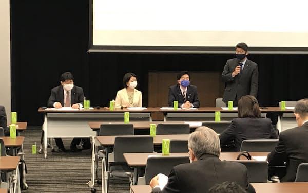自民党の「こども庁」創設を目指す勉強会(3月、国会内)