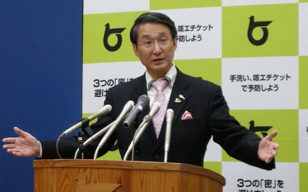 聖火リレーのやり方について鳥取県の平井伸治知事は見直す考えを示した(1日午前)