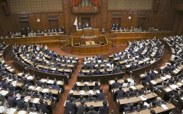 武田総務相に対する不信任決議案を否決した衆院本会議=1日午後