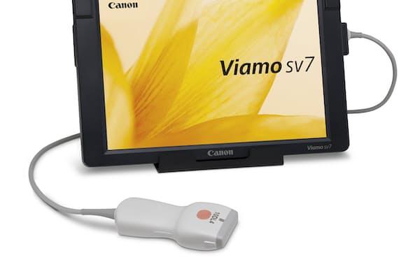 タブレット端末型の小型超音波診断装置「Viamo sv7(ビアモ エスブイセブン)/KMモデル」