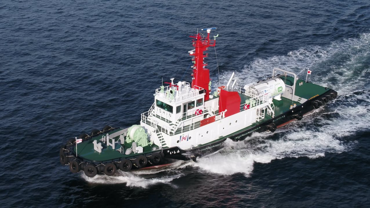 商船三井はLNG燃料船など脱炭素への投資を進める