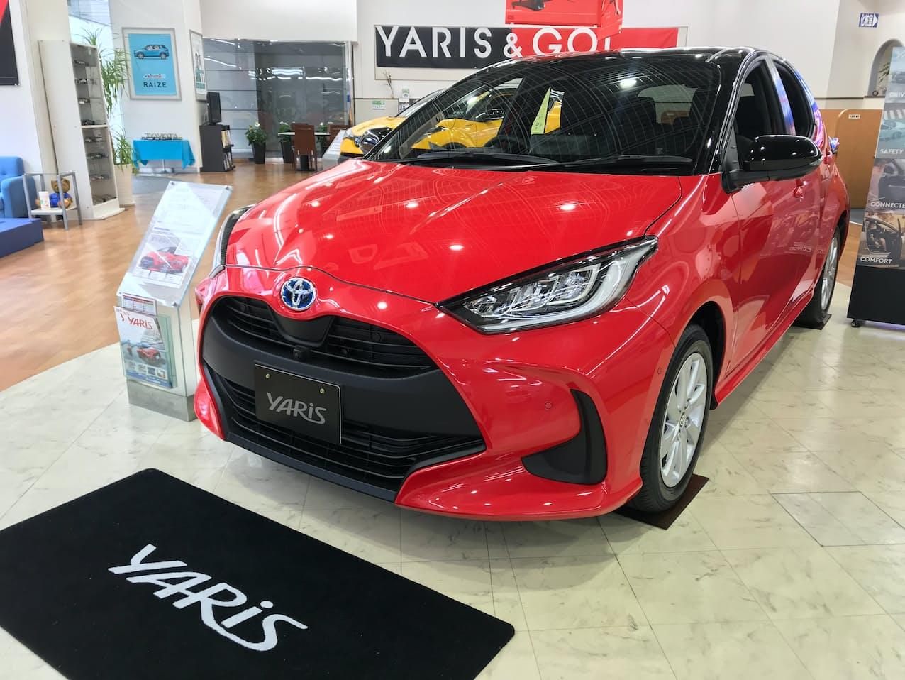 20年度の車名別新車販売はトヨタの「ヤリス」が首位だった