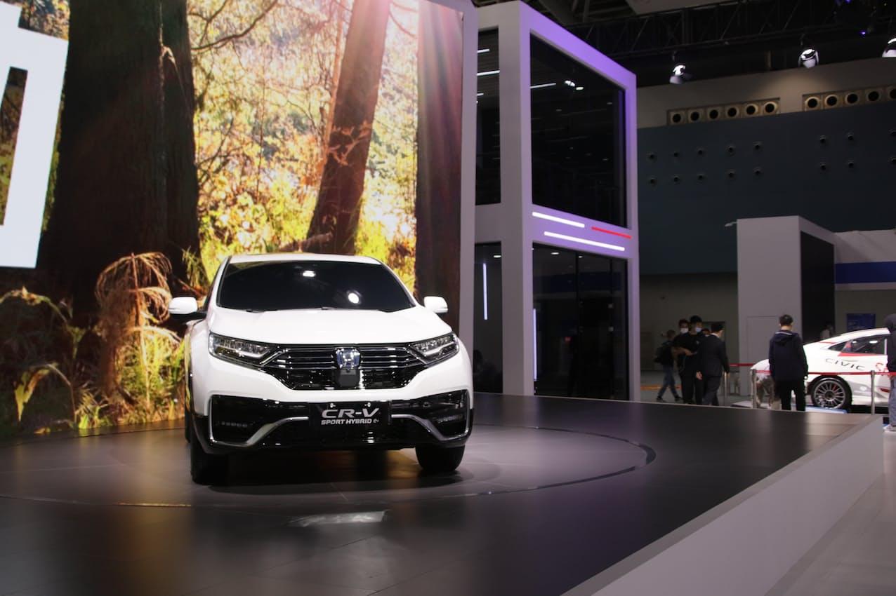 ホンダの3月の中国新車販売は「CR-V」など主力車種が堅調だった(広東省広州市の展示)