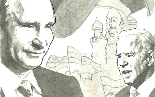 東西関係は冷戦後最悪の状況にあり、核行使紛争が起きるおそれすらある イラスト・よしおか じゅんいち
