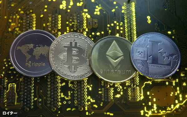 仮想通貨の時価総額は初めて2兆ドルの大台に乗せた=ロイター