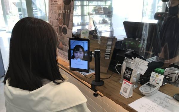 グローリーは近畿大のキャンパスで顔認証決済の実証実験を始めた(7日、大阪府東大阪市)