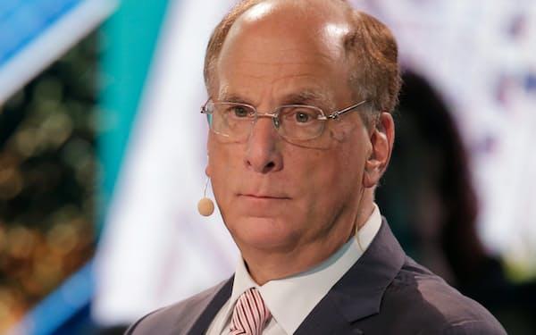 ブラックロックのラリー・フィンク最高経営責任者(CEO)=AP