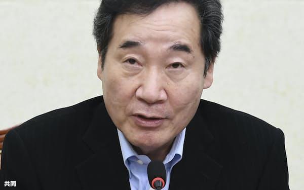 韓国与党「共に民主党」の李洛淵氏=共同