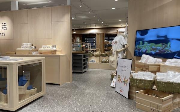近鉄百貨店が9日にオープンする神農生活(8日、大阪市)
