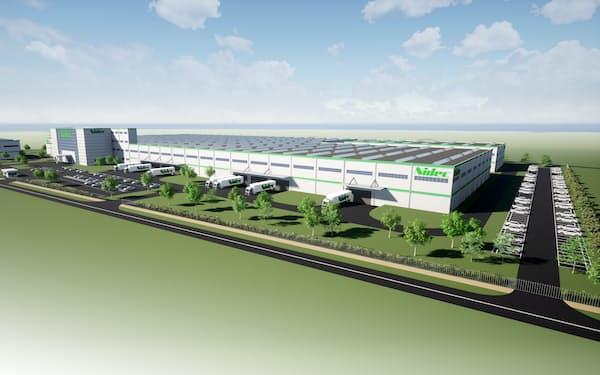 日本電産はセルビアにモーター工場を新設する(完成予想図)