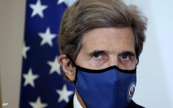 ケリー米大統領特使は中国に気候変動問題で協力を呼びかける=AP