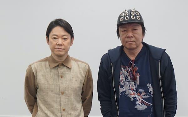 古田新太㊨と阿部サダヲ