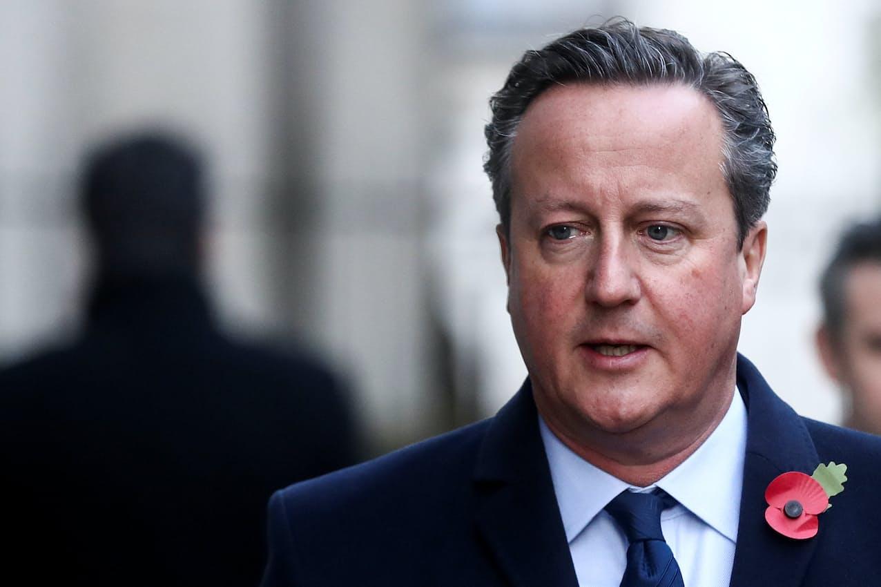 キャメロン元英首相は2018年からグリーンシルの非常勤顧問を務めていた=ロイター