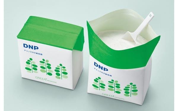 大日本印刷のリクローズ(再封)可能なチャック付き紙容器