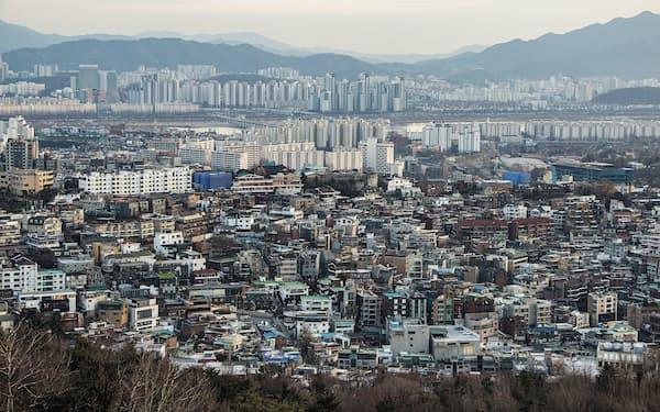 ソウル市中心部は住宅密集エリアが多く、需要に供給が追いついていない