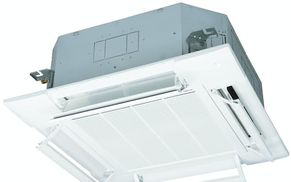風を直接当てない技術を搭載する三菱重工の業務用エアコンは販売を伸ばしている