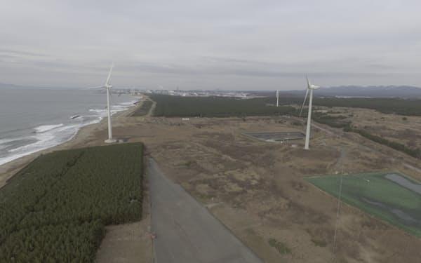 日立造船の雄物川発電所の観測データなどをもとに、風況予測技術の開発を進める