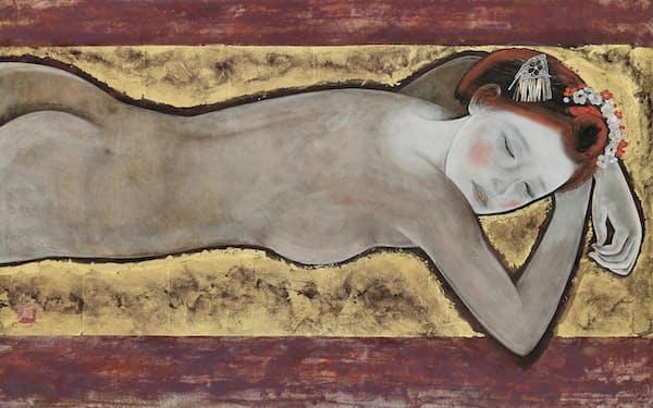 石本正「裸婦」(1967年、個人蔵)