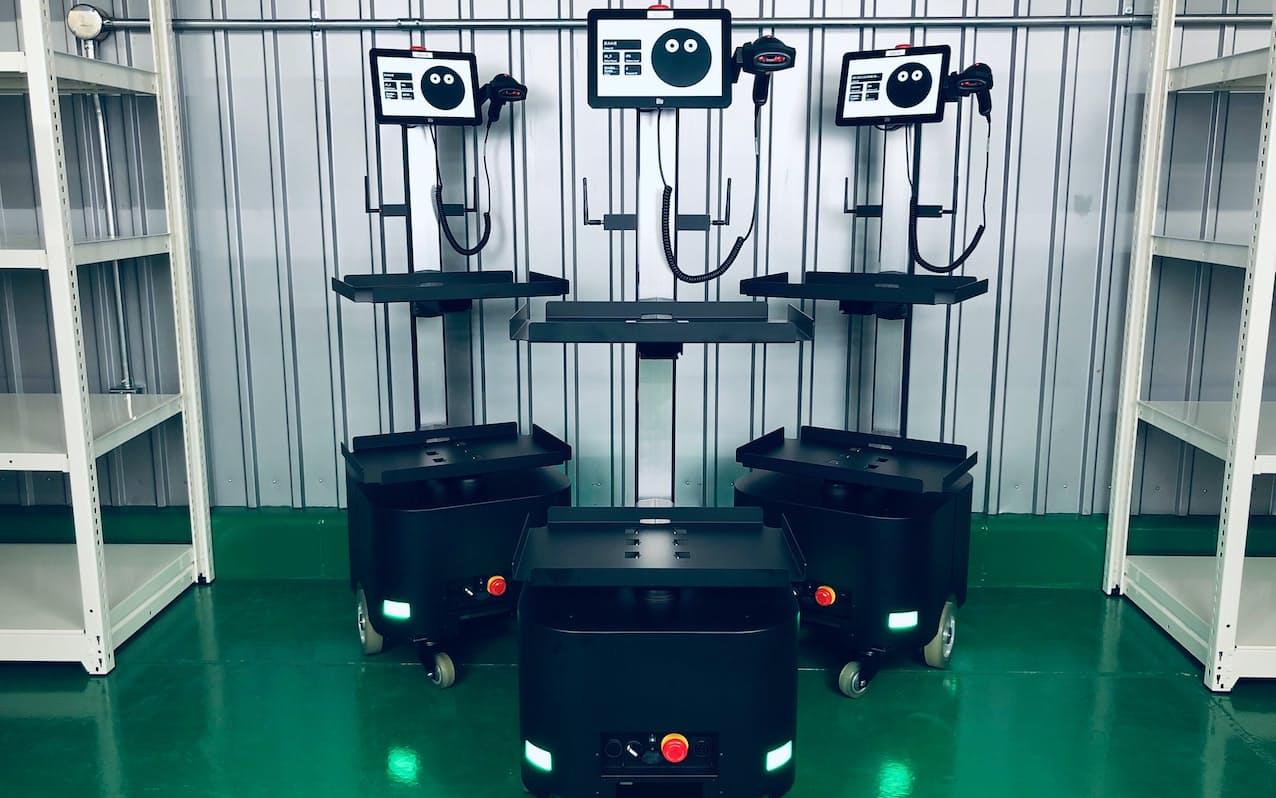 ロボットの制御システムはプラスオート社自社開発した
