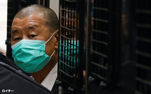 黎智英氏は香港の民主化運動に長年かかわってきた(2月)=ロイター