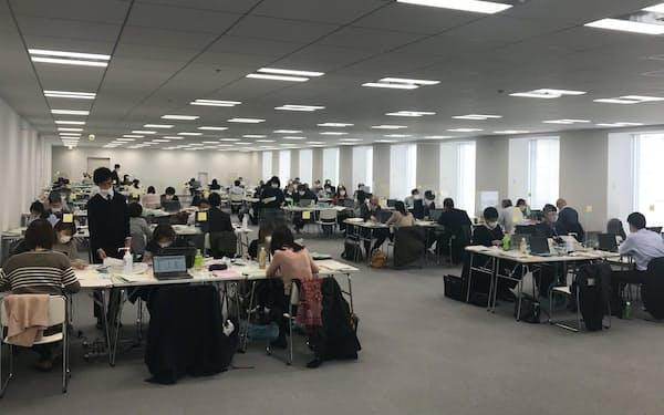 協力金の申請内容を審査する東京都のオフィス