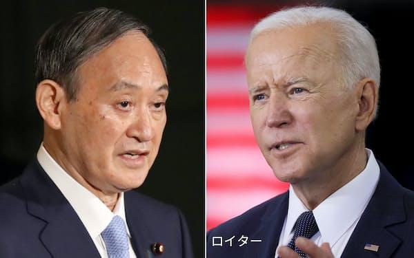 菅首相とバイデン大統領