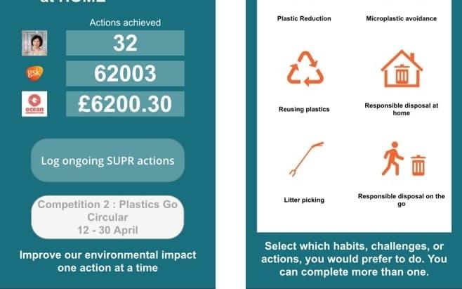 英GSKは在宅下でも脱プラに取り組めるようアプリを開発した。