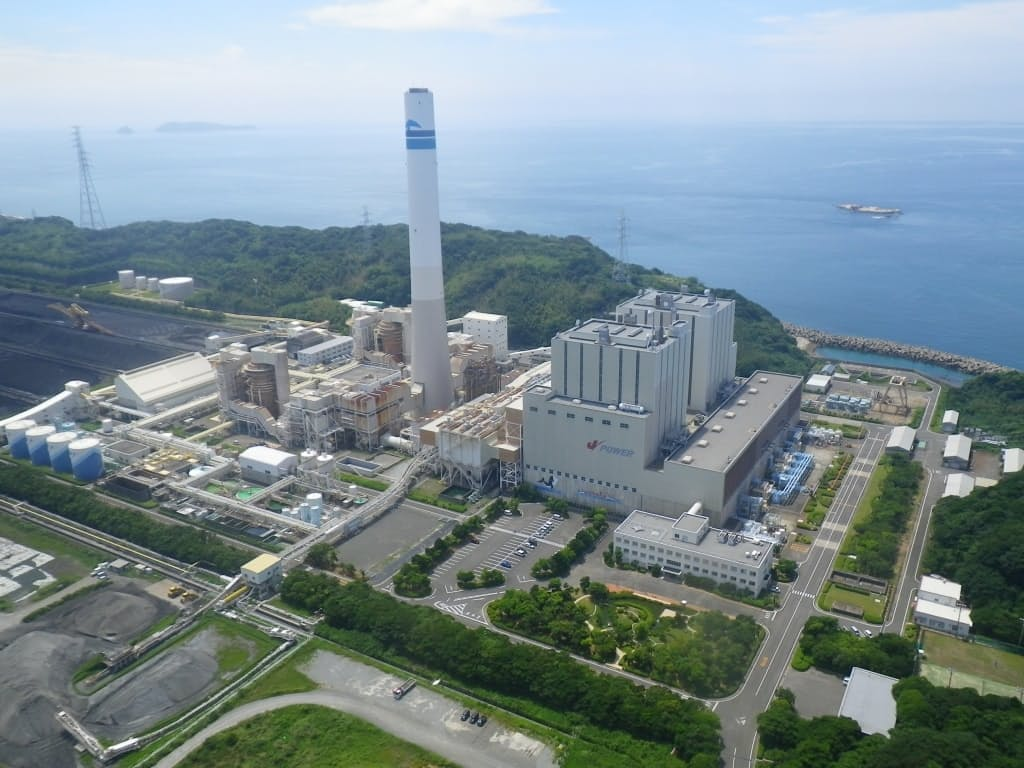 Jパワーの松島火力発電所(長崎県西海市)