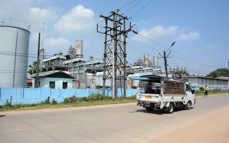 ヤンゴン近郊のガス火力発電所(2018年10月)