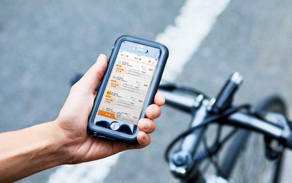 セルート(東京・新宿)の「DIAq(ダイヤク)」では自転車や原付き自転車の配送員が主流