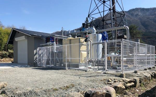 竹中工務店が奥飛驒温泉郷に設置した地熱発電所(岐阜県高山市)