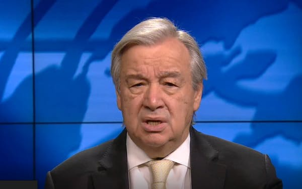 グテレス国連事務総長は、先進国が年11兆円を投じる約束を果たすべきだと主張した