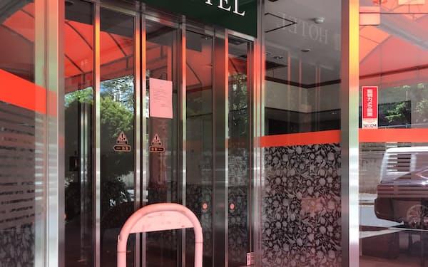 名古屋市内のホテルでは閉業が相次ぐ(営業を終了した名古屋リッチホテル錦)