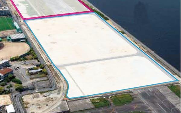 大和ハウス工業は「広島イノベーション・テクノ・ポート」を開発している(ピンク線の内側が追加造成分)