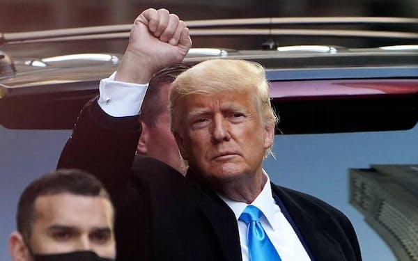 トランプ前米大統領=3月9日、ニューヨーク(ロイター=共同)