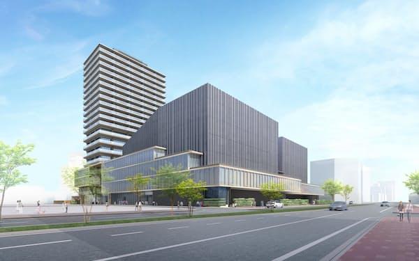 2023年夏ごろオープンする岡山芸術創造劇場(イメージ図)