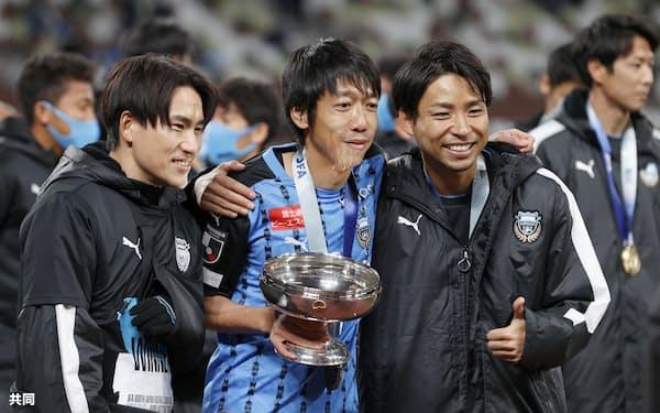 1月の天皇杯でのタイトルを最後に引退した中村氏㊥はJFAのロールモデルコーチに就任=共同