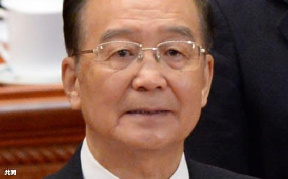 中国の温家宝前首相=共同