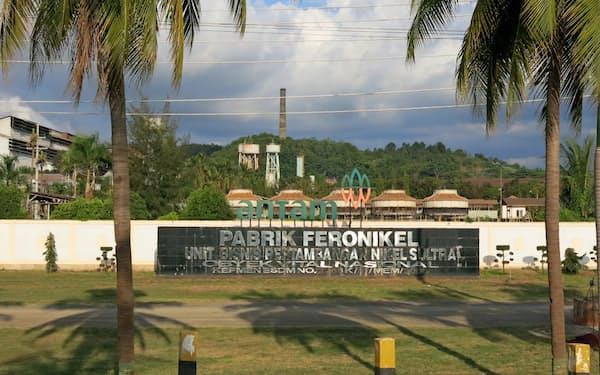 インドネシアではニッケル製錬所の新規計画が相次ぐ(写真はアネカ・タンバンの既存の製錬所=スラウェシ島)