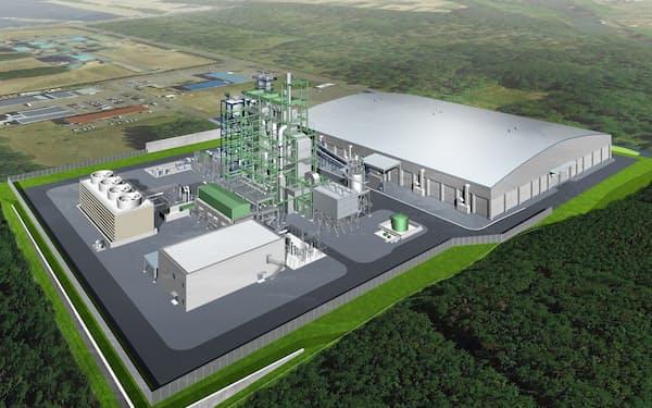 バイオマス発電所の完成予想図