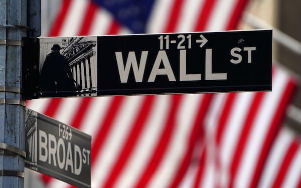 米ニューヨークのウォール街=ロイター