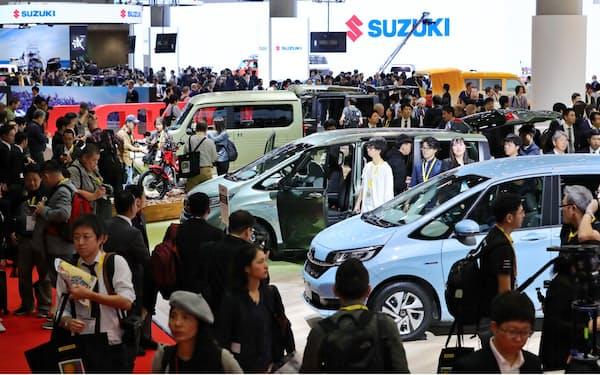 東京モーターショーは2019年には約130万人が来場した(東京都江東区)