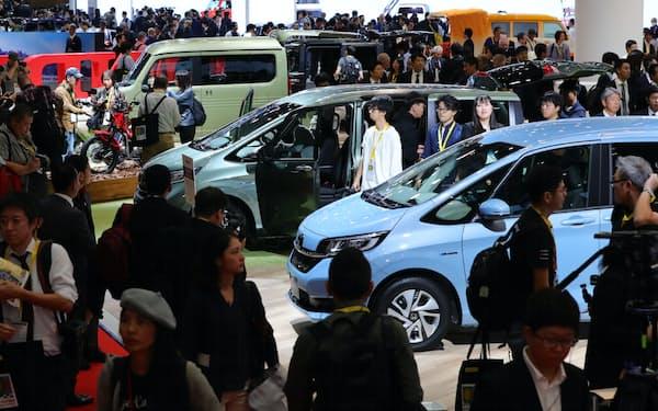 東京モーターショーは2019年開催時には100万人超が来場(東京都江東区)